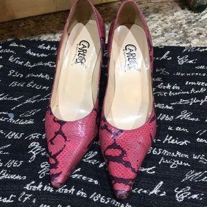 Pink/Black HIP HOP  Design Heel -S8
